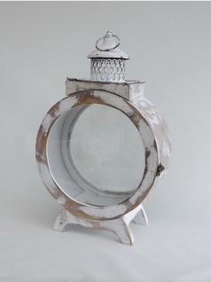 Laterne Holz Metall Windlicht Deko Kerzen Ständer Halter Leuchter Teelichthalter