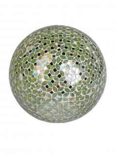 Mosaikkugel beleuchtet Deko Glas Kugel Tischlampe Tischleuchte Lampe Leuchtkugel