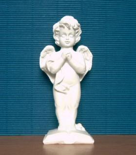 Engel Dekoengel Schutzengel Engelfigur Dekofigur Skulptur weiss matt Figur Deko