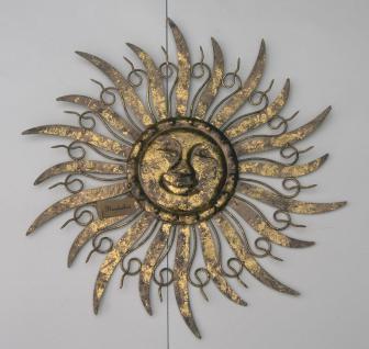 Sonne Wanddeko Wandbild Metall Garten Deko Hänger Bild Wanddeko Wandschmuck