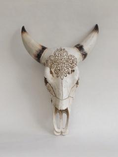 Wanddeko Büffel Kopf Deko Schädel Stier Bulle Bison Horn Western Deko Tier Figur