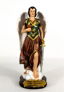 Heiliger Erzengel Zadkiel Deko Figur Skulptur Statue Schwert Drachen Kruzifix