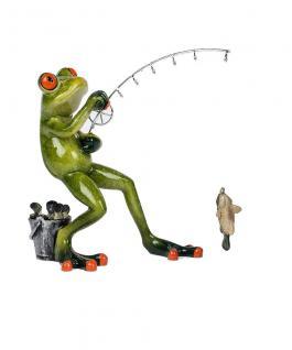 Frosch als Angler Fisch Kröte Gecko Lurch Deko Tier Figur Skulptur Froschkönig