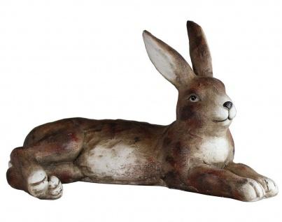 Hase Osterhase Kaninchen Oster Deko Garten Tier Figur Osterei Ei Skulptur Statue