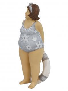 Frau im Badeanzug Mollige Dicke Dame Lady Rubens Deko Retro Figur Schwimmring - Vorschau 2