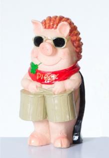 Sparschwein Spardose Spartopf Sparbüchse mit Stopfen Schwein Deko Figur Trommel