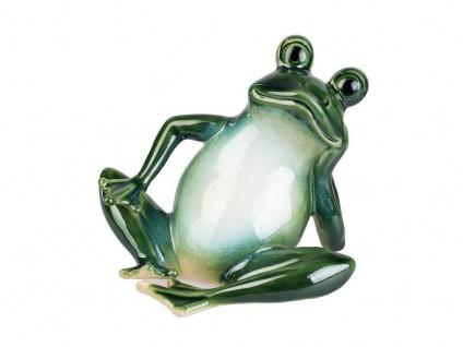 Frosch Kröte Unke Lurch Deko Tier Figur Skulptur Gecko Eidechse Froschkönig