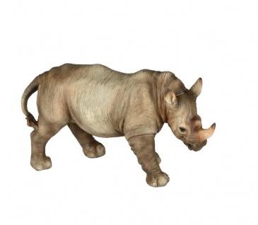 Nashorn Rhino Rhinoceros Deko Afrika Tier Figur Zoo Skulptur Statue Wildtier