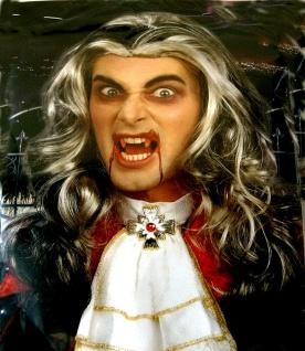 Perücke Dracula Halloween Kostüm Vampir Graf Dracula