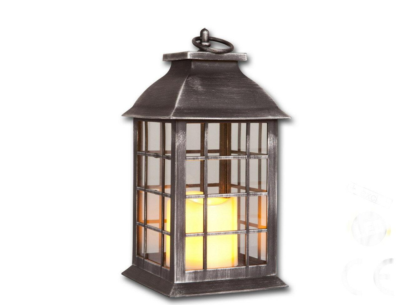 laterne mit led kerze flackernd deko kerzen st nder halter leuchter grablicht kaufen bei. Black Bedroom Furniture Sets. Home Design Ideas