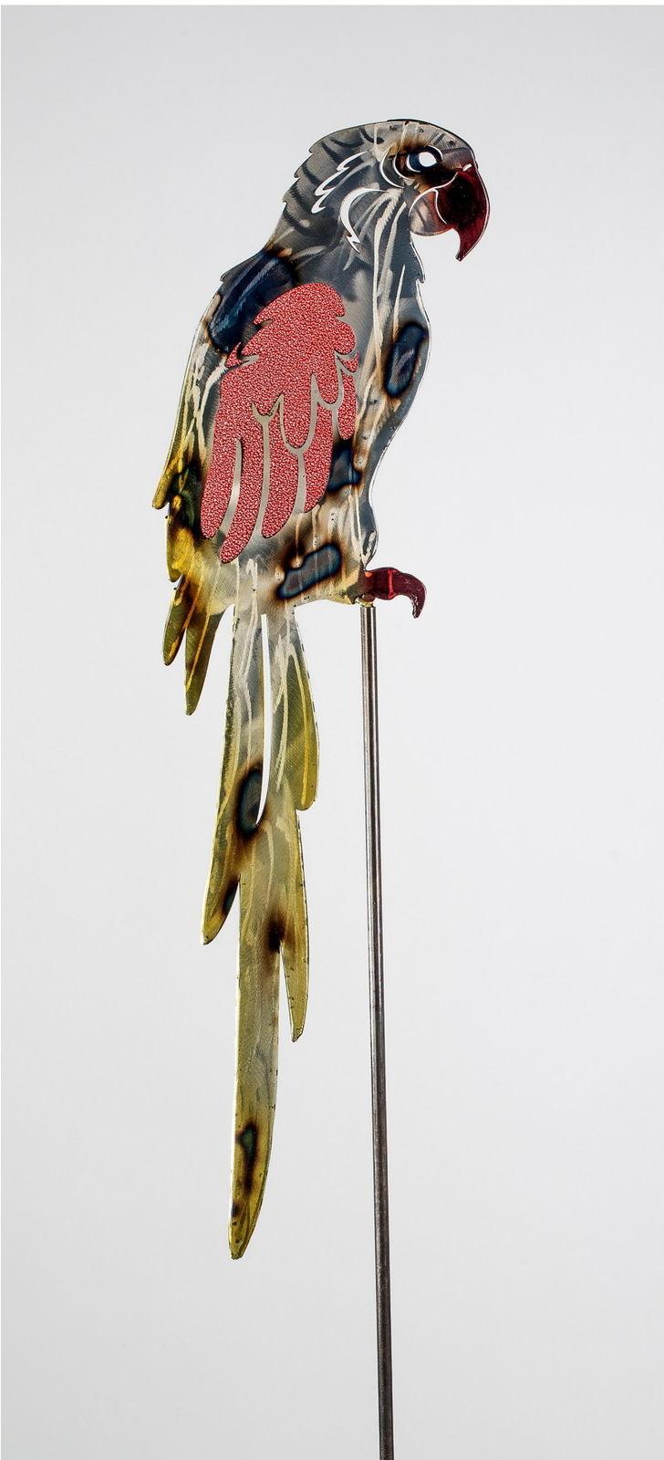 Gartenstecker papagei metall glas gartendeko beetstecker for Gartendeko metall vogel