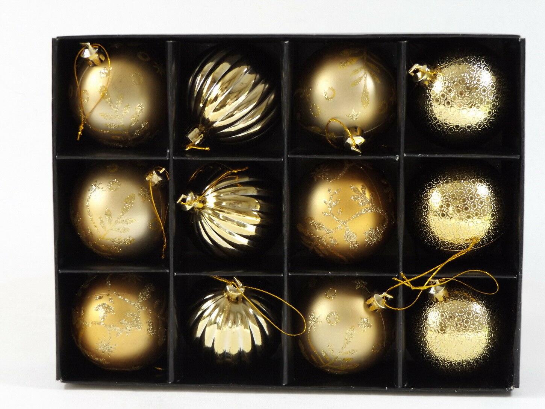 Deko Mit Christbaumkugeln.Christbaumkugeln 12 Tlg Weihnachtskugeln Baumschmuck Deko Kugeln Weihnachtsdeko