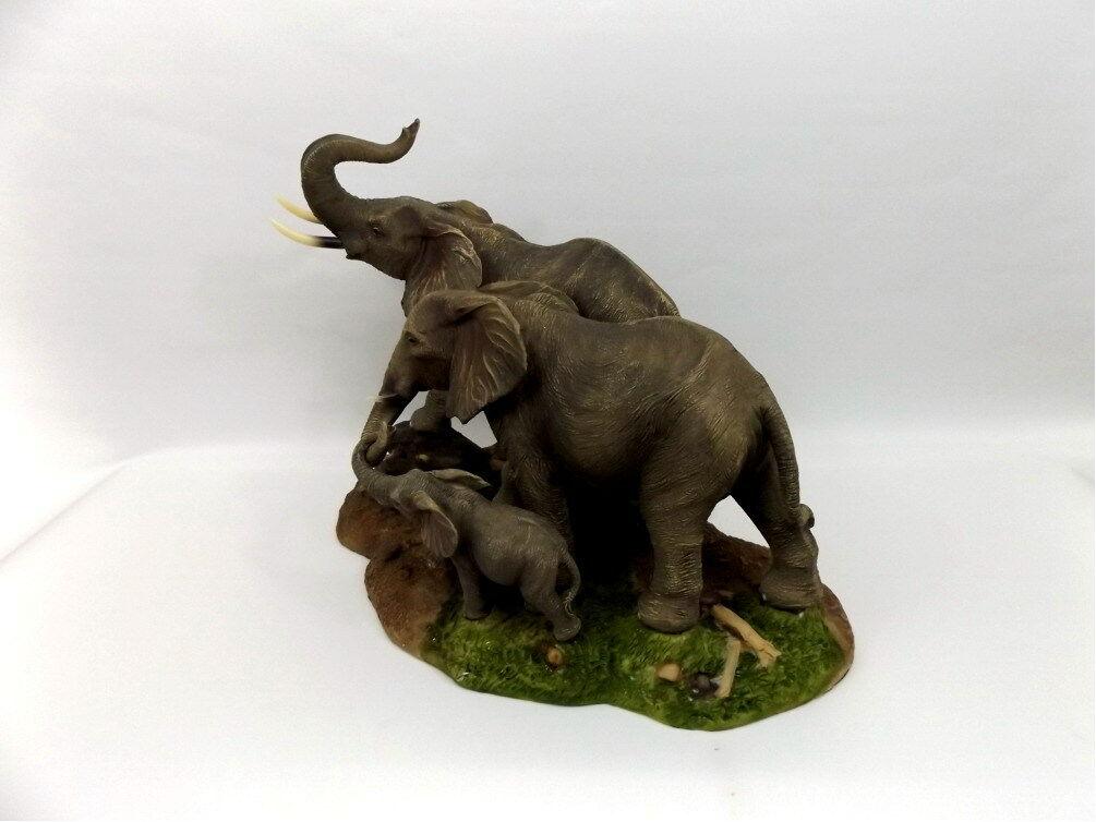 Elefant Elefant Elefant mit Baby Skulptur Elefanten Familie Deko Garten Tier Figur Afrika Statue 1aa008