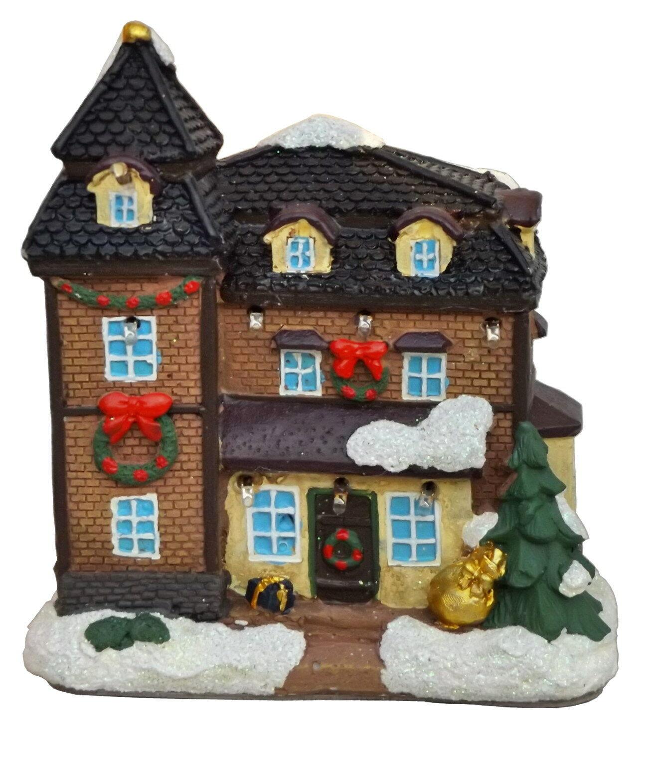 Haus Beleuchten lichthaus led beleuchtet leuchthaus weihnachts winter deko haus dorf