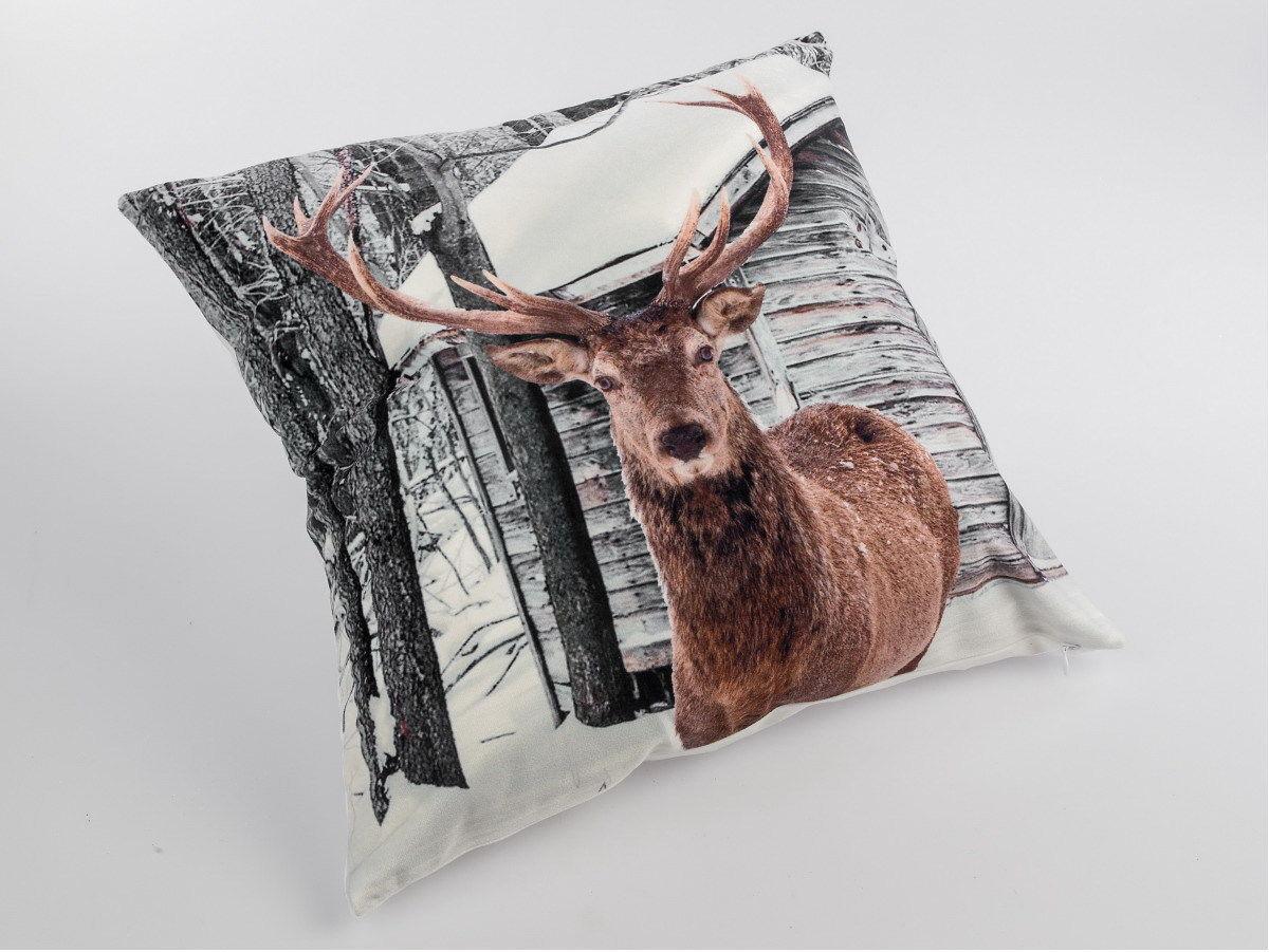 Sofakissen Design kissen hirsch design dekokissen sofakissen deko kissenbezug mit