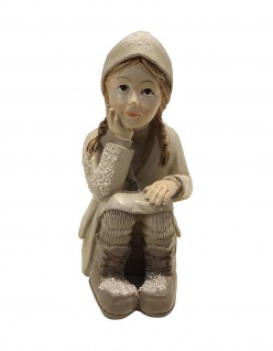 Winterkind Mädchen Weihnachts Nostalgie Deko Kinder Figur Dame Frau Knabe Junge