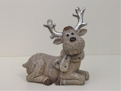 Elch Hirsch Rentier Reh Bock Deko Garten Tier Figur Skulptur Gartendeko Statue