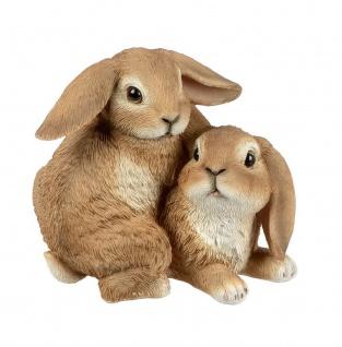 Hase Osterhase Hasen Paar Kaninchen Oster Deko Garten Figur Osterei Skulptur