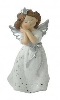 Engel Deko Schutzengel Weihnachtsengel Skulptur Figur Objekt Elfe Fee Herz Stern