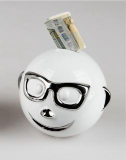 Spardose Smileys Emoji Keramik Dekofigur Spartopf Sparbüchse Sparschwein Stopfen