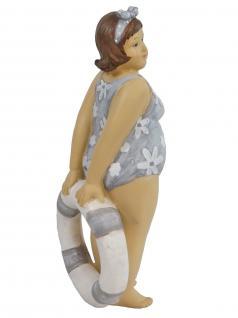 Frau im Badeanzug Mollige Dicke Dame Lady Rubens Deko Retro Figur Schwimmring - Vorschau 4