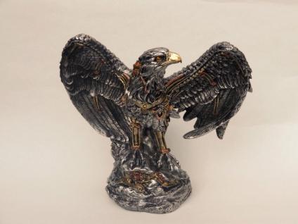 Steampunk Adler Vogel Eagle Seeadler Gothic Skull Deko Figur Raubvogel Stein