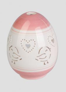 Windlicht Teelichthalter Porzellan Deko Oster Ei Osterei Kerzenhalter Vogel Herz