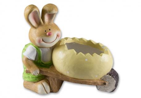 Osterhase mit Osterei Ei als Pflanzgefäß Deko Hase Oster Deko Garten Tier Figur