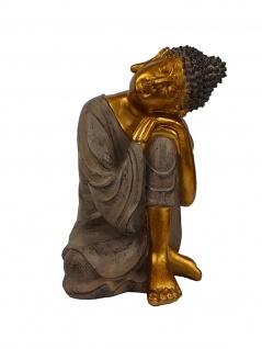 Buddha Mönch Monk Bonze Deko Thai Figur Shaolin Skulptur Statue Feng Shui Zen