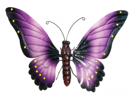 Schmetterling Metall Wandbild Wanddeko Deko Wand Hänger Tier Figur Skulptur