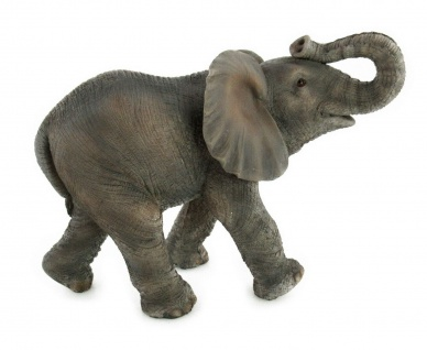 Elefant Elefanten Skulptur Deko Artikel Garten Afrika Wild Tier Figur Objekt