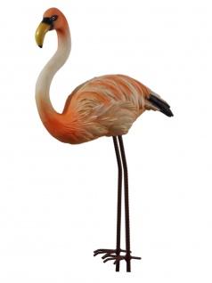 Gartenstecker Flamingo Beetstecker Garten Deko Vogel Figur Reiher Teichfigur
