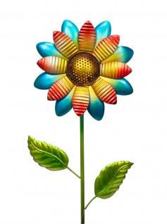 Gartenstecker Metall Blume Garten Beet Stecker Rosenkugel Deko Figur Skulptur