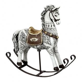 Schaukelpferd Nostalgie Weihnachts Deko Pferd Ross Antik Figur Skulptur Tier