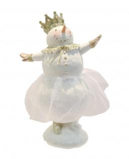 Schneemann Ballett Ballerina Tänzerin Deko Figur Skulptur König Krone Engel Elfe