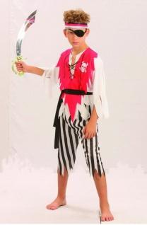 Kinder Kostüm Pirat Seeräuber Kinderkostüm 8-10 J Gr.M - Vorschau