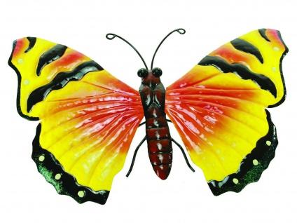 Schmetterling Metall Wandbild Wanddeko Deko Bild Wand Hänger Tier Figur Skulptur
