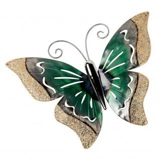 Deko Schmetterling Metall Wandbild Wanddeko Bild Wand Hänger Tier Figur Skulptur