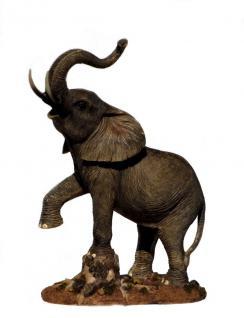 Elefant Tierfigur Skulptur Elefanten Deko Tier Figur Afrika Statue abstrakt