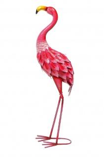 Flamingo Vogel Metall Deko Garten Teich Tier Figur Skulptur Statue Hahn Huhn
