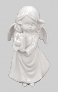 Engel Schutzengel Porzellan Dekofigur Skulptur Statue Weihnachts Deko Figur Elfe