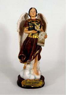 Heiliger Erzengel Gabriel Deko Figur Skulptur Statue Lilie Drachen Kruzifix