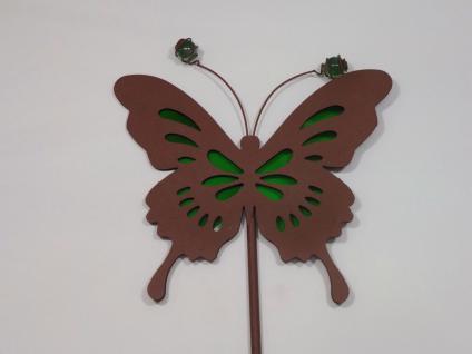 Garten Stecker Metall Schmetterling Edelrost Deko Beet Figur Stab Rankhilfe