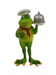 Frosch Koch Kröte Lurch Deko Tier Figur Skulptur Froschkönig Laubfrosch Gecko