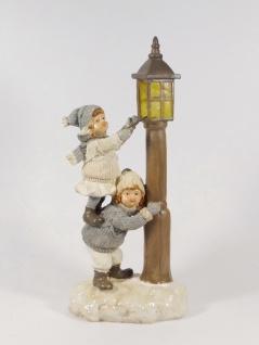 Winterkinder Mädchen Junge Knabe Laterne Weihnachts Nostalgie Deko Kind Figur