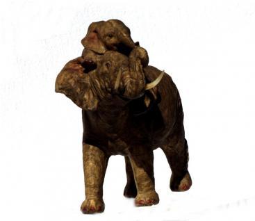 Elefant Baby Tierfigur Skulptur Elefanten Deko Garten Tier Figur Afrika Statue - Vorschau 2