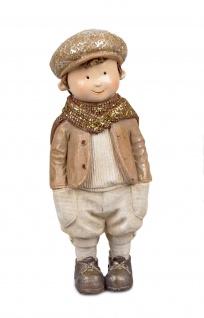 Winterkind Junge Nostalgie Kind Winter Deko Kinder Skulptur Figur Mädchen Objekt