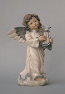 Engel Dekoengel Schutzengel Deko Figur Artikel Weihnachts Skulptur Statue Lyra