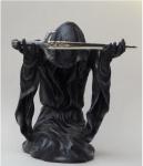 Gothic Deko Figur Schwert Sensemann Reaper Skelett Skull Totenkopf Todesengel