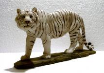 Tiger Katze Tigerfigur weiss Skulptur Deko Tier Figur Statue abstrakt Löwe
